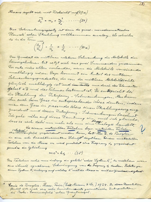 Einstein's 1925 manuscript