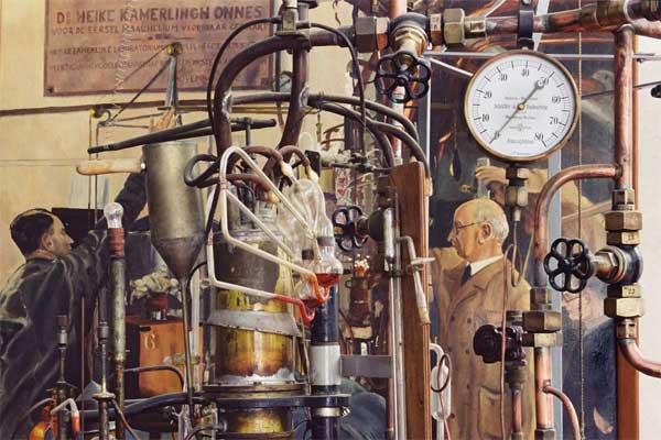 Helium liquefactor, photograph by A.J. van Haasteren